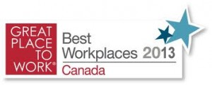 2013 Greal Place to Work Award - DEL Property Management Inc.